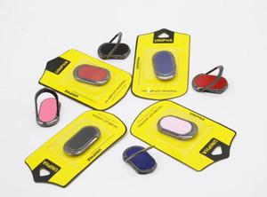 Nova fivela de anel de suporte oval fivela de anel magnético de 360 graus todos os metal titular do telefone do carro