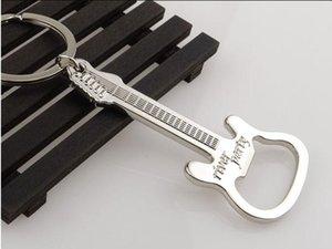Aleación de zinc cerveza guitarra abrebotellas abrebotellas llavero llavero herramienta de la cocina de la barra de palanca de regalo venta caliente