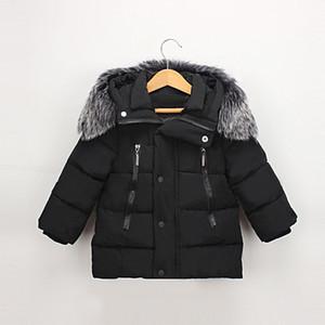 Piumino Dulce Amor Bambini 2018 Inverno Parka caldo Cappotti Addensare collo di pelliccia naturale Capispalla con cappuccio Neonate maschi Vestiti per ragazze