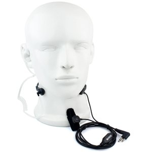 2 Pin Auricular PTT garganta MIC para Motorola Radio GP88 GP2000 CT450 MV12 + Pista