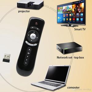 미니 비행 에어 마우스 T2 2.4G 무선 키보드 마우스 안 드 로이드 TV 상자 IR 원격 제어 3D 감각 모션 미디어 플레이어