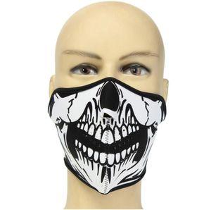 Bicicleta Calavera Máscaras faciales Máscaras transpirables Media máscara Máscara protectora para ciclismo Montañismo Esquí Deportes al aire libre