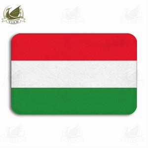 Vixm 새해 복 많이 받으세요 헝가리 깃발을 흔들며 눈송이 배경 웰컴 도어 매트 러그 플란넬 안티 - 슬립 입구 실내 주방 목욕 카펫