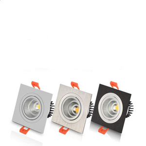 Dimable 10W 15W 20W Square Led Panel Light Recessed COB Led Down AC85-265V + Driver