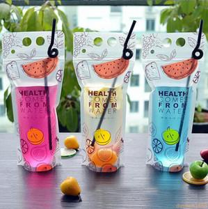 2000 pcs 500 ml Transparente Auto-selado Saco De Bebida De Plástico DIY Bebida Recipiente De Beber Saco De Suco De Fruta De Armazenamento De Alimentos partido bebida saco