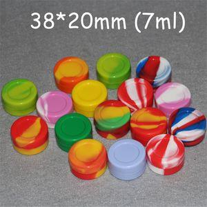 3 мл 5 мл 7 мл 22ml Антипригарное силиконовый Jar Dab Воск Контейнеры для воска Силиконовые баночки Concentrate Case
