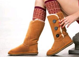 الشحن مجانا جودة عالية WGG المرأة طويل القامة أحذية نسائية جزمة حذاء الثلوج التمهيد الشتاء أحذية جلدية التمهيد