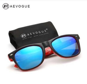 AEVOGUE polarisierte Sonnenbrille Männer Thick Azetat Rahmen Polaroid-Objektiv-Sommer-Art-Gläser CE UV400 AE0368