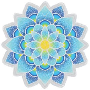 Drop Shipping Indian Mandala Tapestry Lotus Mat Yoga Bohemian Flower Printed Shawl Sunblock Round Beach Towel with Tassel MFLA1