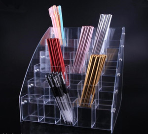 Envío gratis Clear acrílico Cosmetic Brush Sombra de ojos Pencil Lipstick Display Stand Rack Support Organizer Holder para Desk Office Supplie