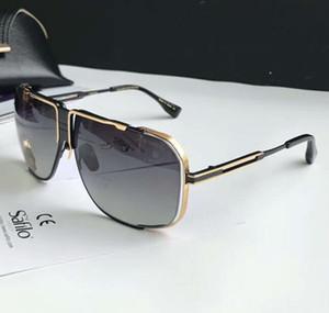 Урожай черный блестящий золото / Затененные Солнцезащитные очки Runway рамка Gafas де золь мужские солнцезащитные очки Оттенки New