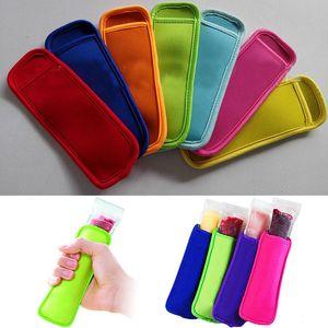 New Popsicle sleeve Popsicle 홀더 팝 아이스 슬리브 냉동고 팝 홀더 Kids 여름 아이스크림 주방 도구 18 * 6cm WX9-275