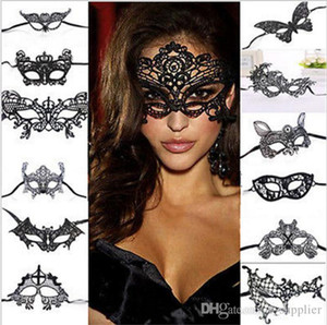 Moda Seksi Dantel Göz Maskesi Venedik Masquerade Ball Parti Fantezi Elbise Kostüm Lady Hediyeler Parti Maskeleri c298