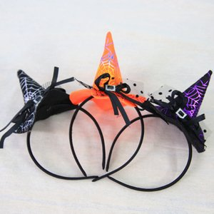 새로운 디자인 할로윈 용품 할로윈 파티 소품 마녀 모자 모자 헤드 밴드 마녀 헤드 후프 마녀 머리띠