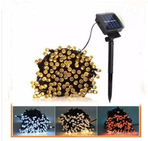 Christmas led string 100 LED 200 LED Outdoor 8 Modes Solar Powered String Light Garden Fête de Noël Lampe 10m 22M LLFA
