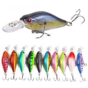 Minow 8g 7cm Wobbler Fishing Lure Crankbait Suspend Laser Minnow Пластиковый Lifelike Hard Bait Peche Bass Pesca Carp Fishing Cackle