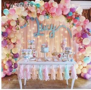 JOY-ENLIFE 5M Plastic Balloon Chain 410 Holes PVC Rubber Wedding Party Birthday Balloons Backdrop Decor Balloon Chain Arch Decor