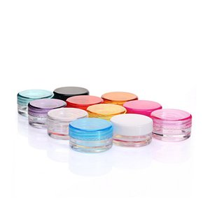 10-Colors Wax Containers Food Grade Plastic Box Jar Case For Wax Thick Oil Holder Dry Power Dab Tools Dabber Good Flavor lin2689