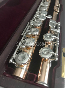 Neue ankunft muramatsu flöte 16 schlüssel geschlossen löcher hohe qualität goldlack flöte marke musikinstrument mit fall