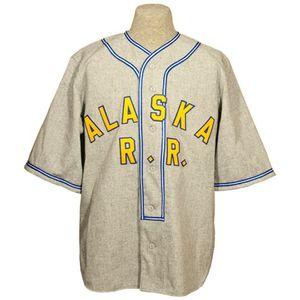 Alaskan Railroad 1948 Road Jersey 100% brodé brodé Logos Vintage Baseball Jerseys Personnalisé n'importe quel nom n'importe quel nombre Livraison gratuite