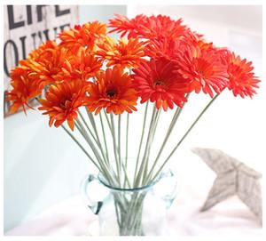 Düğün / Ev / Parti Dekorasyon için Renkli İpek Transvaal Papatya 23Colors 55cm Barberton Papatya Yapay Çiçek Sun Flower