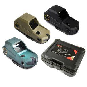 Taktik Hartman MH1 Red Dot Sight Refleks En Büyük Alan Kapsam Hızlı Ayır ve USB Şarj ile Avcılık için Hava yumuşak Siyah / Koyu Toprak / Yeşil