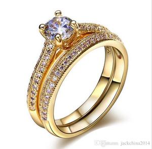 Victoria Wieck choucong Modeschmuck Rundschnitt 925 Sterling Silber Weißer Saphir CZ Diamant Beliebte Frauen Hochzeit Braut Ring Set SZ5-10