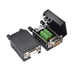 스크류 터미널에 DB9 D 서브 커넥터 9 핀 커넥터 직렬 포트 어댑터를 RS232