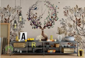 Custom non-woven wallpaper Forest elk wallpapers for living room photo wallpapers stereoscopic 3d wallpaper Background wall