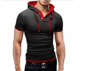 Fashion 2018 Summer Casual Wire Cap Short Sleeve Slim Fit Thin Solid Casual Hip Hop tracksuit sweatshirt hoodies