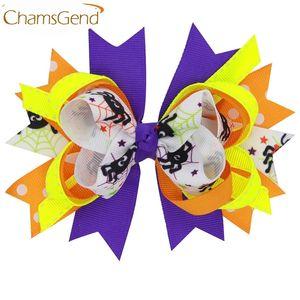 Recém Projeto Colorido Grande Arco Grampos de Cabelo Festa de Halloween Grampos de Cabelo Para Crianças Crianças Meninas Acessórios Para o Cabelo 160802 Gota 20 pcs