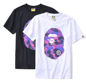 18SS Apes cabeza camiseta pullover corto camo un baño para hombre camisetas de diseño aape ape T-SHIRT HIP HOP camisa para hombre vetements