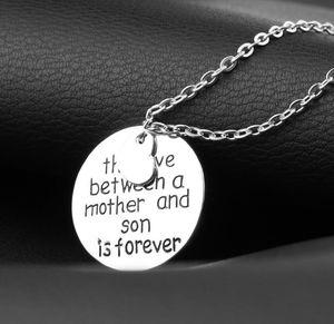 El amor entre una madre y su hijo es para siempre Collar colgante de amor Mom Momma Mama Women Femme Jewelry Gargantilla familiar Collier Collier Party Gift