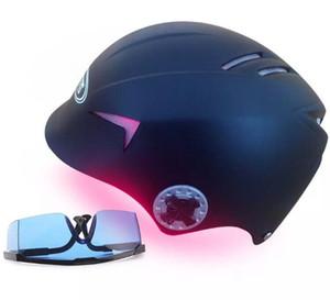 Laser plus récent Casque 650nm Repousse cheveux tête de traitement diode anti-chute croissance des cheveux laser Massager lunettes de protection bouchon oculaires