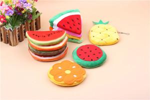 Fluff Fruit Forme 3D Imprimé Coin Sacs À Main Wallet Pouch Case Pastèque Orange Sacs Cartoon Sac À Main pour Enfants Cadeaux