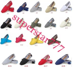 HOT taille 35-45 gros marque mode femmes paillettes solides appartements chaussures sneakers femmes et hommes toile chaussures mocassins occasionnels chaussures espadrilles