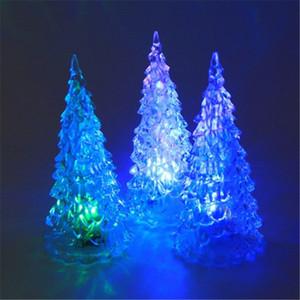 Akrilik Noel Ağacı Renkli Gece Işıkları Kristal LED Noel Ağacı Işıkları Oyuncaklar