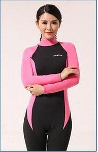 2.5mm femelle wetsuit wetsuit nageant siamois vêtements de protection solaire