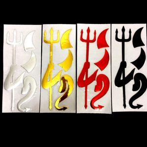 Demonio Devil Soft 3D emblema de PVC cromado etiqueta engomada del coche al por mayor Insignia Car-styling Calcomanías Accesorios de coche de plata negro rojo oro