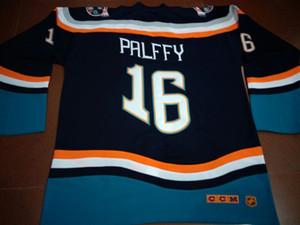 Vintage RARO Uomini 1997-98 New York Islanders Fisherman # 16 Ziggy Palffy Fishsticks Gioco usurati o personalizzato qualsiasi nome o il numero retrò Jersey