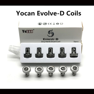 Yocan Evolve-D Bobin Kuru Ot Çift Bobin İçin Evolve-D E-Sigara Bobinler 2018 Sıcak YENİ Ürün% 100 Gerçek