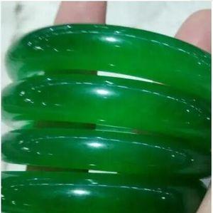 도매 - 56mm - 62mm IMPERIAL 녹색 자연 JADE BANGLE JADEITE BRACELET CHARM JEWELRY GM66