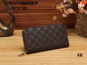 Wholesale and retail free shipping fashion wallet 2019 new men's long square wallet black coffee blue zip coin purse