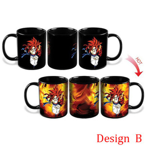 Farbwechsel in der Küche Becher Dragon Ball Z Becher Son Goku Heat Reactive Ceramic Super Saiyan Kaffeetassen Taza Goku Cup