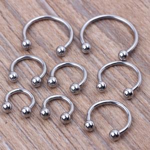 50 adet / grup Paslanmaz Çelik Burun Vücut Piercing Takı Burun Yüzük Takı Plastik Burun Yüzükler Piercing
