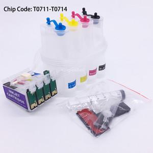 T0711-T0714 Système d'encre vide CISS avec puce pour Epson S20 S21 SX215 SX100 SX110 SX200 SX209 SX210 SX400 SX510W SX205 SX105 SX405