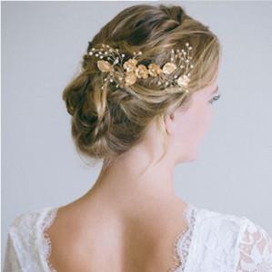 Pettine di cristallo da sposa Pettini da sposa in oro pettini Fiori Vintage Accessori per capelli da diserbo per spose e damigelle