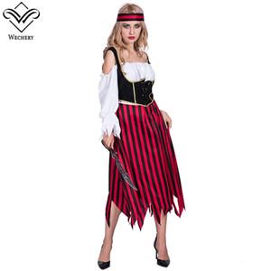 Сексуальный пират очаровательный костюм Хэллоуин необычные партии платье карнавал этап проп производительность пират косплей Хэллоуин костюмы для женщин