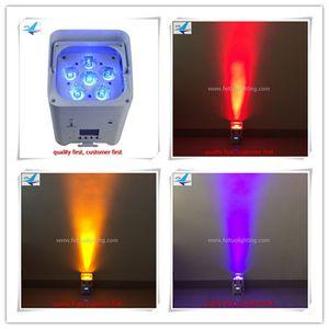 A-8 x 힘 수 6x12W 소형 uplighting RGBWA + UV DJ DMX 파 빛 수 있습니다 결혼식 DJ 디스코 건축 단계를위한 건전지 wifi 사용으로