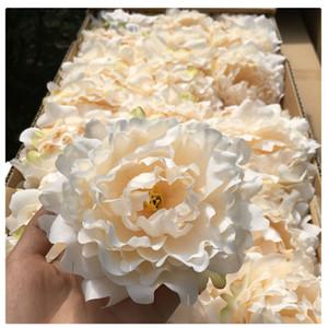 50 Pcs Artificial Flores De Peônia De Seda Cabeças de Flor Festa de Casamento Decoração Suprimentos Simulação Falso Cabeça de Flor Casa Decorações Flor parede